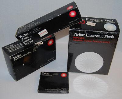 Vintage VIVITAR Electronic Flash 283 35mm Bracket Quick Release Pistol Grip Lot 35 Mm Flash Bracket