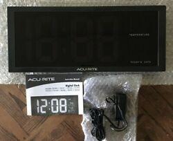 ACURITE LED DIGITAL CLOCK W/INDOOR TEMPERATURE