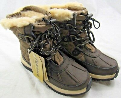 BEARPAW Bethany Kids Unisex Waterproof Winter Boot, Brown, (Size 13 Youth)  NEW!