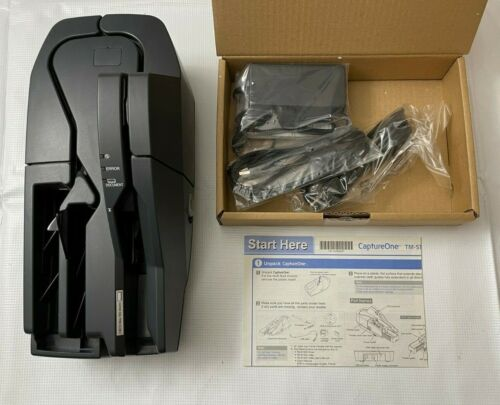 Epson TM-S1000 USB Check Cheque Scanner w/ cords and manual - open box
