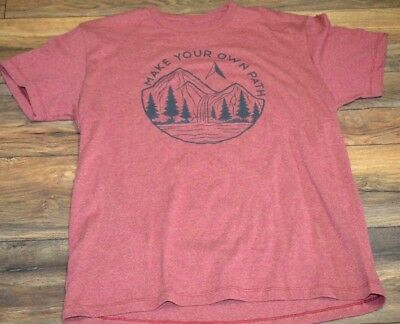 Make Your Own Path Tee Men's Sonoma Goods For Life T-Shirt Outdoors Adventure - Make Your Own T Shirts