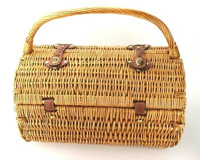 Picnic Time Botanica Barrel Picnic Basket with Service for Two