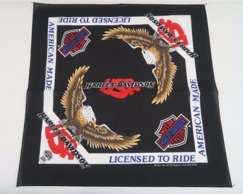 Vintage Harley Davidson Black Eagle Bandana - Made In The USA