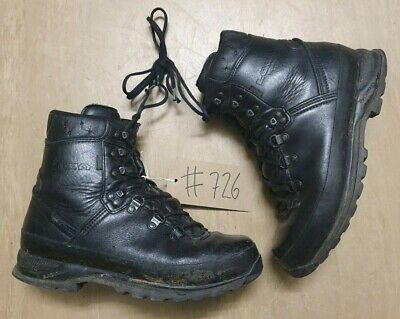 Original Lowa Black Army Leather GoreTex Vibram Combat Boots Size 9M UK #726