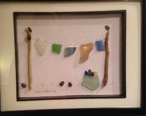 HANDMADE SEA GLASS PICTURES