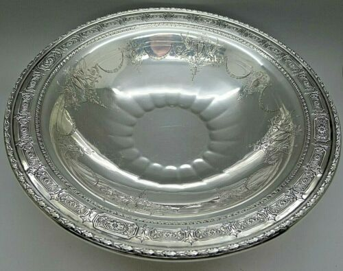 TOWLE STERLING SILVER RARE GRIFFINS PATTERN FOOTED LARGE BOWL ESTATE LOOK