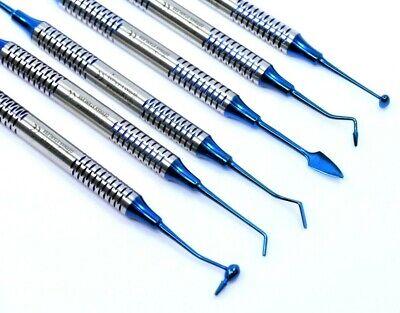 German Dental Composite Filling Instrument Blue Titanium Coated Restorative Kit