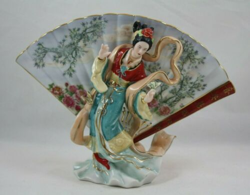Bradford Exchange Visions Of Grace, Land of Enchantment Geisha Figurine With Fan