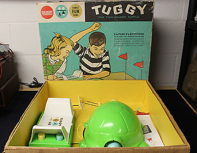 VINTAGE 1963 GILBERT ELECTRIC BATTERY OPERATED TUGGY THE TWO HEADED TURTLE TOY