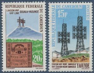 CAMEROUN-1963-N-367-368-Liaison-hertzienne-Douala-Yaounde-CAMEROON-MNH