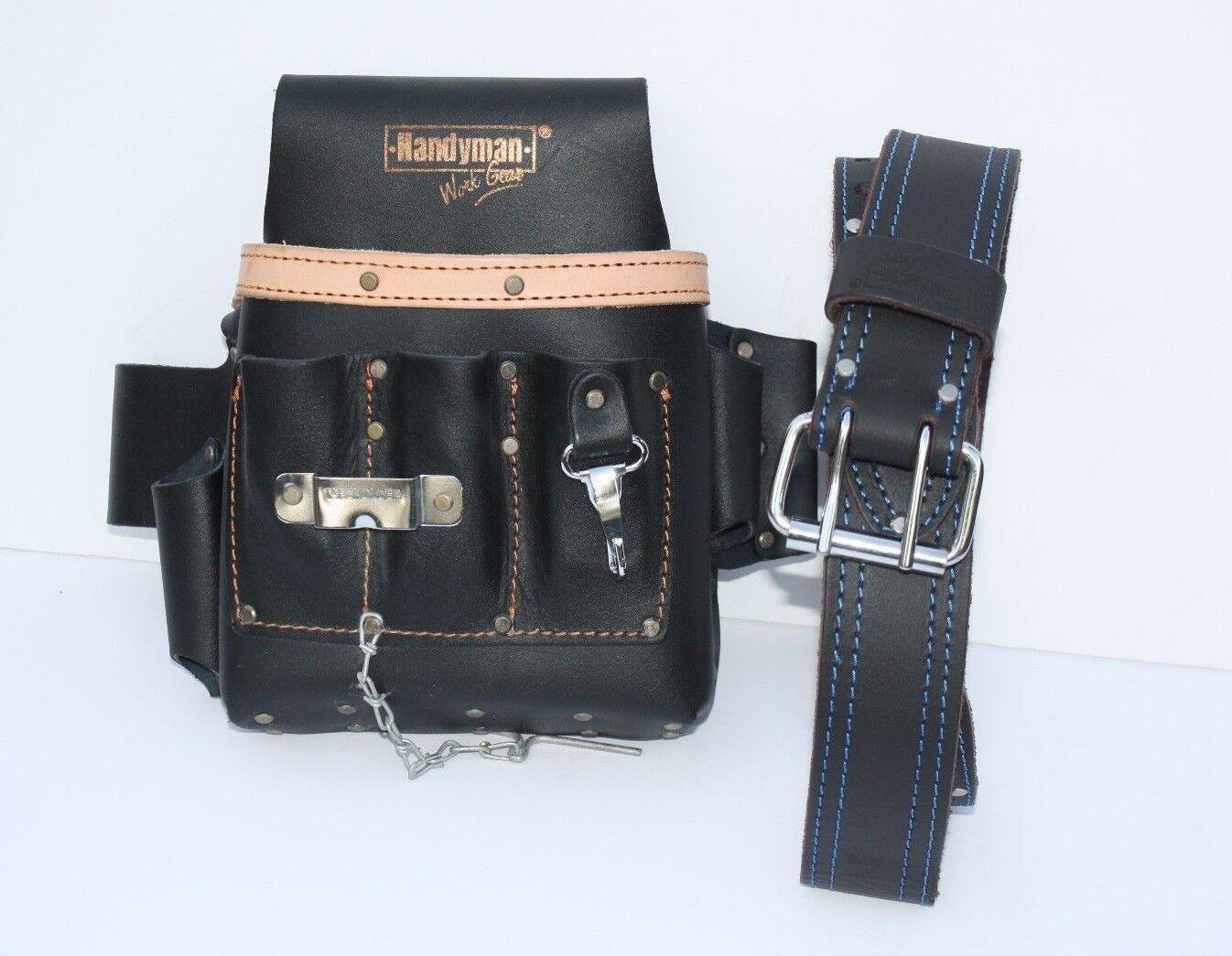 10 pkt Electrician Tool Bag Pouch + Waist Tool Belt - BOTH O