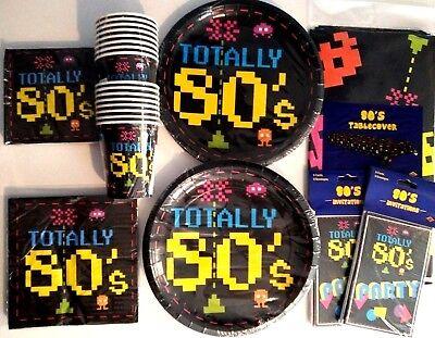 TOTALLY 80's Birthday Party Supply Decoratio Kit w/ Invitations FREE U.S. Ship ! (80s Birthday Invitations)