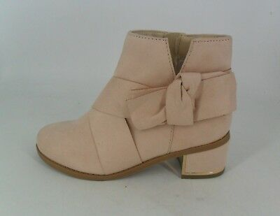 River Island Pink Textile Bow Detail Ankle Boots UK 1 EU 33 JS088 XX 03