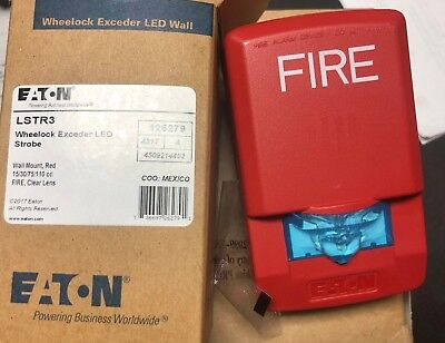 Eaton Catalog Lstr3 Wheelock Exceeder Wall Mount Led Strobe- Fire Alarm