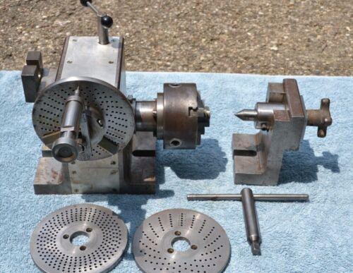 Indexing /Dividing Head Milling Machine Attachment W Cushman Chuck