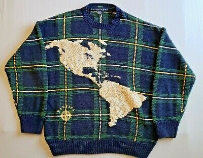 Vintage Nautica North & South America Knitted Sweater Mens XL