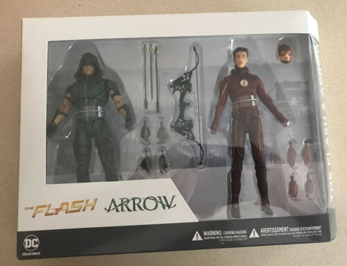 DC TV Arrow and Flash Action Figure 2 Pack. Free Shipping