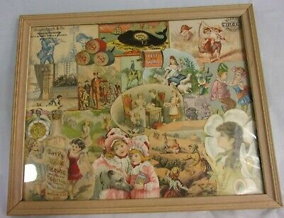Vintage Trade Card Collage Advertising Hoyts Soapine Pine State Oil Clarks