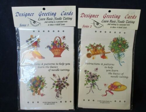 Basic Needle Tatting Vintage Designer Greeting Cards Series 1&2 Handy Hands New