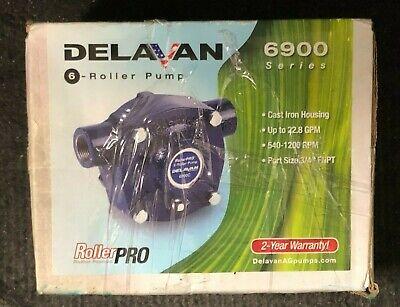 Delavan 6900 Series 6-roller Pump W Cast-iron Housing 6900c-r Brand New
