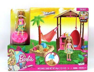 "Barbie Chelsea 6 "" Doll Tiki Hut Play Barbie Dreamhouse Adventures Play Set"