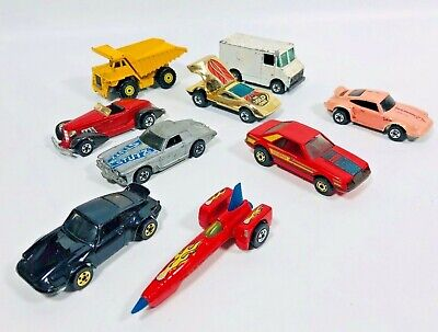 1970s HOT WHEELS DIECAST CAR TRUCK LOT OF 9 HONG KONG MALAYSIA FORD CHEVY