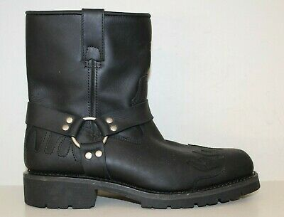 Xelement Mens Motorcycle Boots Sz 12 M Side Zip Harness Riding Mid Calf LU1555