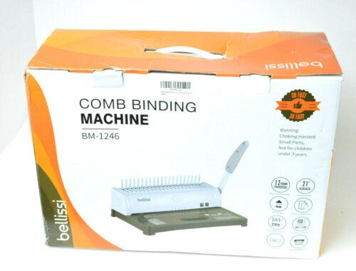 NEW Bellissi COMB BINDING MACHINE BM-1246 New Open Box