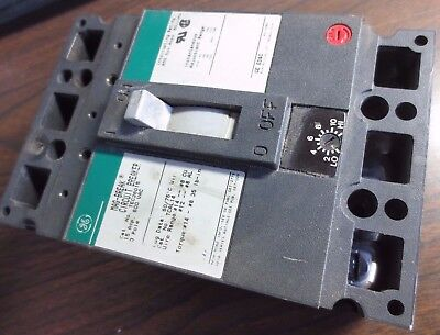Ge Tec36015 Mag-break Circuit Breaker - 15a 600v 3-pole - Adj. Range 42-198