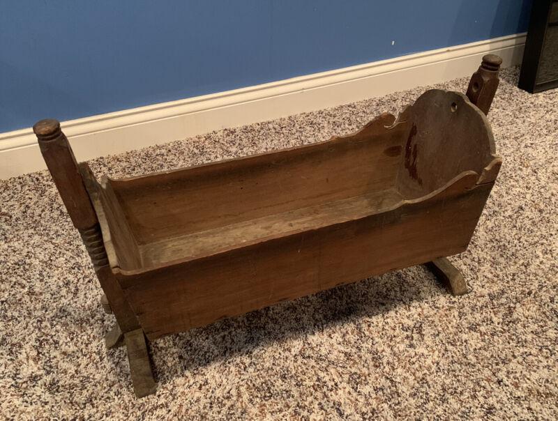 Vintage 1800's Baby Cradle.
