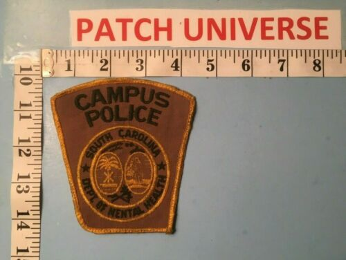 SOUTH CAROLINA  DEPT OF MENTAL HEALTH CAMPUS POLICE  SHOULDER  PATCH  M126