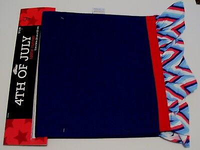 RED WHITE & BLUE PATRIOTIC 4TH OF JULY COTTON TABLE RUNNER WARE DECORATION - 4th Of July Tableware