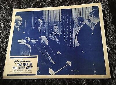 1950s Mens Suits & Sport Coats | 50s Suits & Blazers MAN IN THE WHITE SUIT Lobby Card  R1950s Joan Greenwood, Cecil Parker $40.73 AT vintagedancer.com
