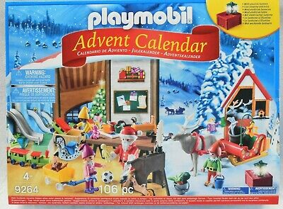 Playmobil SANTA'S WORKSHOP Advent Calendar *NEW* 9264 106 Pcs Santa Elves Toys
