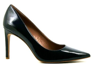 Vince Camuto Womens UK 8 EU 41 Navy Blue Patent Leather Pointed...
