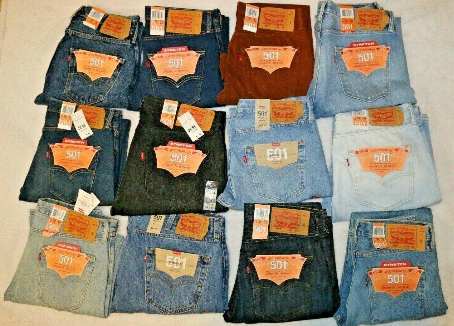 Levis 501 Original Fit Men's Jeans Straight Leg Levi's Button Fly Cotton/Stretch