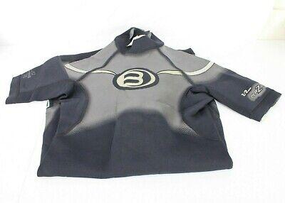 Bare Wet Suit Adult Medium Large Black Gray White Shorts 1 Piece 2/2 MM Stretch  - Medium Large Short Wetsuits