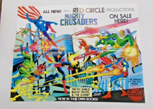 """Mighty Crusaders - Red Circle Comics Promotional Poster 21x16"""" On Sale Here"""