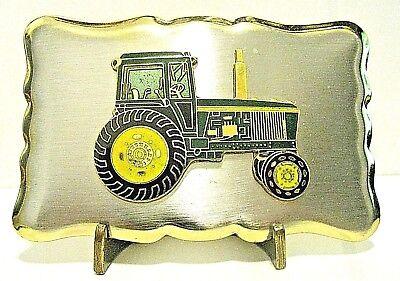 John Deere 3055 2955 2755 2355 Tractor w/ Cab Gold & Silver Tone Belt Buckle jd