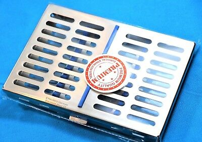 German Dental Autoclave Sterilization Cassette Rack Box Tray For 10 Instruments