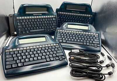 Lot Of 4 Alphasmart 3000 Portable Laptop Keyboard Word Processor Tested W Usb