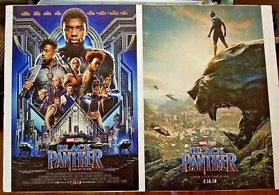 Black Panther (2018) 13.5 x 20 Original Theactrical Poster 2 Sided *NOT REPRINT*