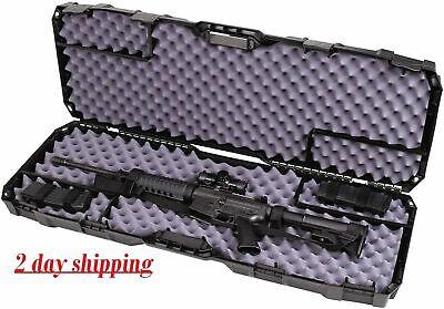 50.5inch Rifle-Shotgun Case Scoped lock tab single hard plastic inter locking