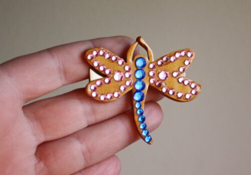 Coraline Dragonfly Barrette - Gold - Pink - Blue - costume - cosplay