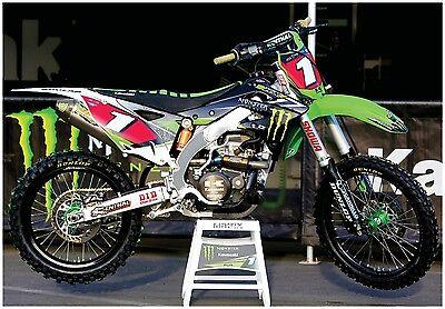 MONSTER ENERGY SUPERCROSS RACE BIKE GIANT POSTER ryan villopoto motocross KXF450