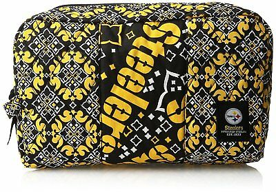 Nfl Team Fabric - Pittsburgh Steelers Football Team Logo NFL Fabric Cosmetic Carrying Case Bag