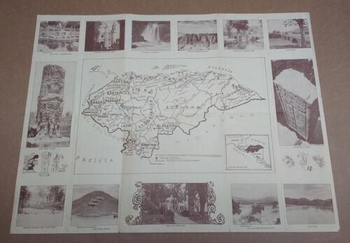 1937 Honduras Tourist Tourism Travel Map Photos Brochure