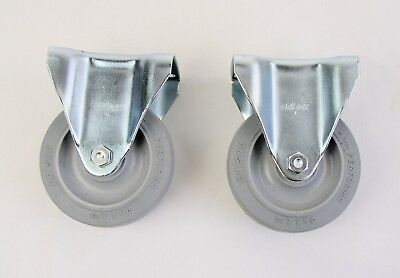 Rubber Rigid Caster Wheel 4 X 1-14 Performa - Lot Of Two2