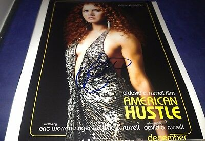 Amy Adams American Hustle Hand Signed Authentic 11X14 Photo Autographed W Coa