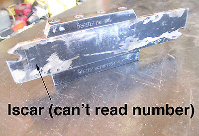 Large Lathe Iscar Parting Tool Holder 2 Blade No Inserts - South Bend Ssi